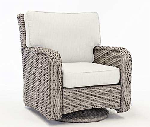Rattan Man St Tropez Stone Stain Outdoor Wicker Patio Glider Chair