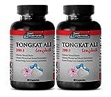 Male performance enhancemen - TONGKAT ALI ROOT EXTRACT 400 Mg 200 : 1 - Eurycoma longifolia jack tongkat ali long jack - 2 Bottles 120 Capsules