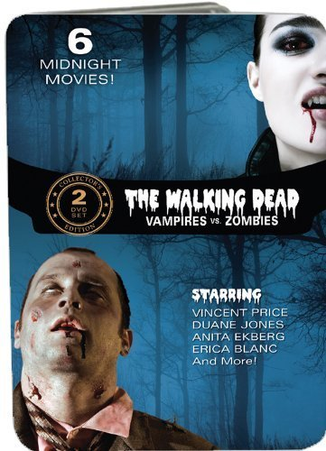 The Walking Dead: Vampires vs. Zombies (Fangs of the Living Dead / Grave of the Vampire / The Devil's Nightmare / Zombie Hell House / Night of the Living Dead / The Last Man on Earth) by Anita Ekberg (George A Romero On The Walking Dead)