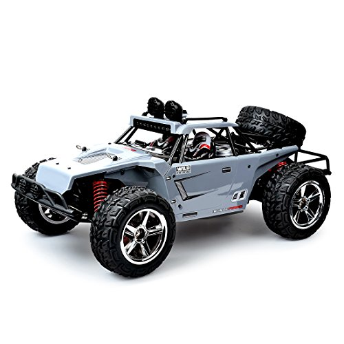 LBLA Remote Control Truck, Fast 30 MPH 4WD All Terrain Off-road RC Car. RTR 1/12 Scale 2.4 Ghz with Rechargeable Batteries (Grey)