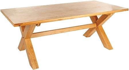 Mesa de comedor patas de Cruz Opus 210 cm rectangular muebles de roble macizo: Amazon.es: Hogar