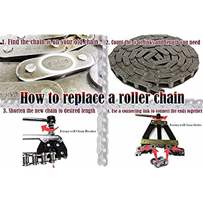 41 Roller Chain 3 Feet with 1 Connecting Links Go-Karts, Scooters and Mini Bikes: Industrial & Scientific