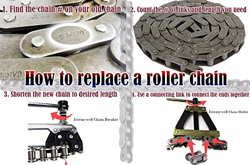 Chain Breaker/Cutter For #25-60 Roller Chains Motorcycle Bicycle Go Kart ATV Chains Replacing by Jeremywell (Image #2)
