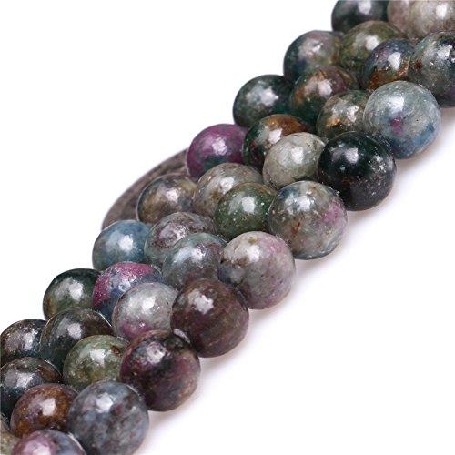 Apatite Natural - Joe Foreman Brazil Ruby Apatite Beads for Jewelry Making Natural Gemstone Semi Precious 8mm Round Green Red 15