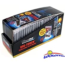 Box of (25) Ultra Pro One Touch Magnetic Card Holders # 81911UV (Fits up to 100pt Card). Holds Standard Size Baseball, Football, Sports Cards, Gaming & Trading Cards Collecting Supplies! WOWZZER!