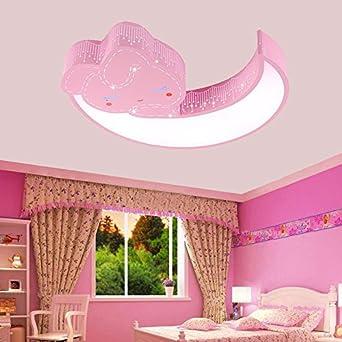 Rose Lanternes Lune Garçons Et Plafond Princesse Chambre Led Lampe ASc5RL4q3j