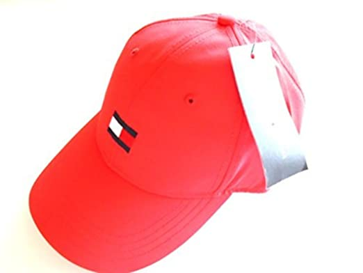 Tommy Hilfiger Micro-Flag Adjustable Boaters Cap Poly Quick Dry Sports Hat ( Red) 30dc2b6e82c