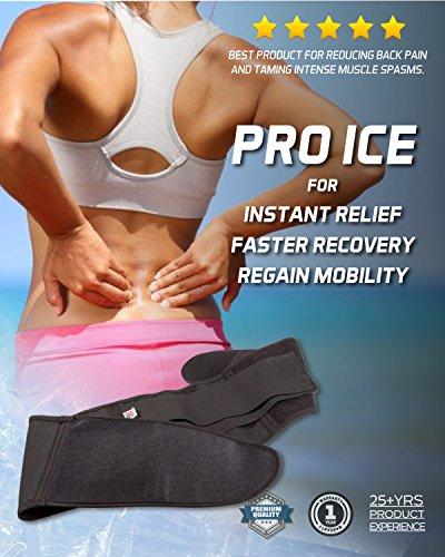 Pro Ice MEDIUM Back Ice Wrap Lumbar Support for Lower Back Pain Relief, Pinched Nerves, Sciatica - Waist Size 26''-33'', Model PI 700 Ice Packs Included by PRO ICE COLD THERAPY PRODUCTS (Image #5)