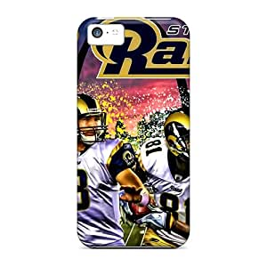 Bumper Hard Phone Case For Iphone 5c With Customized Fashion St. Louis Rams Image LauraAdamicska