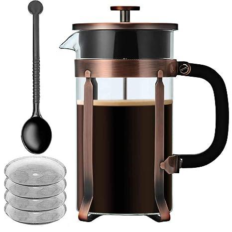 Amazon.com: Prensa francesa cafetera/tetera, idealhouse 34oz ...