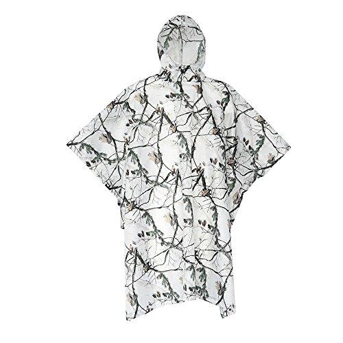 アウトドア 多目的 スノーエリア カモ 三つ組 防湿マット 柔らかい 快適な レインコート 軽量 レインウェア 防水 携帯袋付き