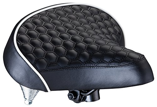 Handlebar Anatomic Bicycle - Schwinn Quilted Wide Cruiser Saddle