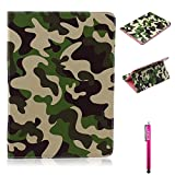 Galaxy Tab S2 10.5 Case, Firefish Wallet Case with Card Slots Great Quality PU Leather Kickstand Feature Flip Cover Folio Protect for Samsung Galaxy Tab T800 - Camouflage