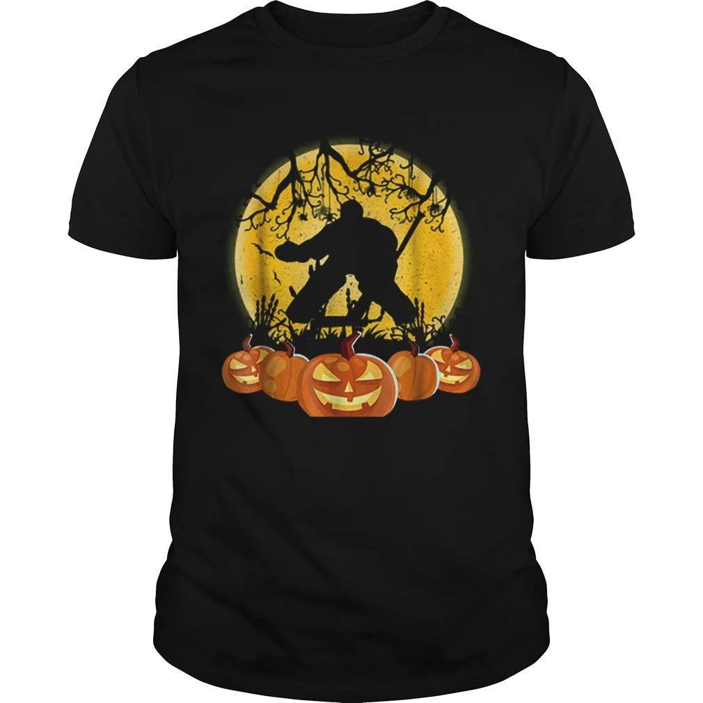 New Collection T shirt for Woman Man anniversary Original Hockey Goalie Pumpkin Halloween shirt