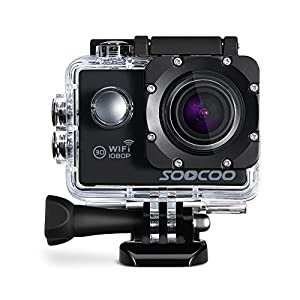 "WIFI Action Camera, SOOCOO Waterproof Action Camera 12MP Full HD 1080P - 2.0"" LCD Screen, 170¡ã Wide Angle Lens, 30M/98ft Underwater Diving Camera with 2 Batteries - (Micro SD Card Not Included)"