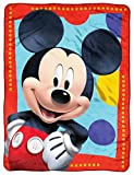 Disney's Mickey Mouse Club House, 'Frame Dots' Micro Raschel Throw Blanket, 46' x 60', Multi Color