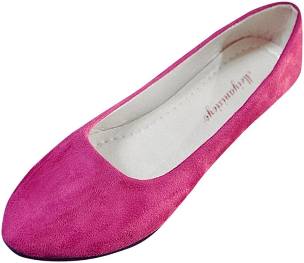 Sandalias Mujer, ZODOF Zapatos Planos de Mujer Sandalias Casual Zapatos de Bailarina Día de San Valentín