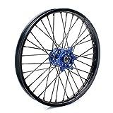 TARAZON 21'' Off-road MX Front Complete Wheel Set Rim Spokes Blue Hub for Yamaha YZ250F YZF250 2007-2013 YZ450F YZF450 2008-2013 YZ125 250 2008-2015