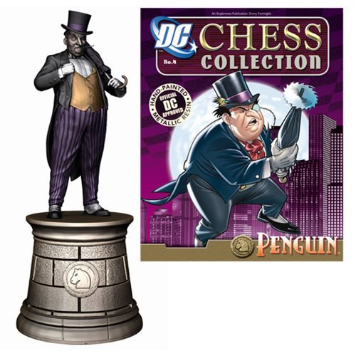 Eaglemoss Publications Batman Penguin Black Knight Chess Piece with Magazine