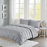 Intelligent Design Avery Comforter Set Twin Bedding Sets - Grey, Reversible Brick Tiles – 2 Piece Teen Bed Set – Ultra Soft Microfiber Bed Comforter