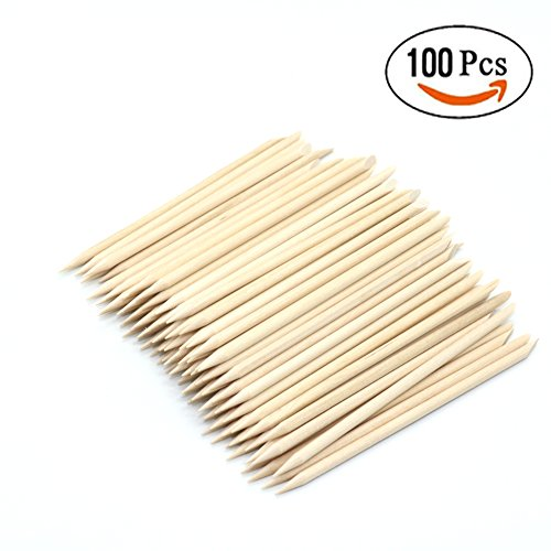 IDS 100 Pcs Nail Art Wood Sticks Cuticle Pusher Wooden For Nail Art Care Manicure Nail Tools Nail Care Sticks