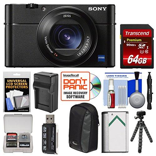 Sony Cyber-Shot DSC-RX100 V 4K Wi-Fi Digital Camera with 64G