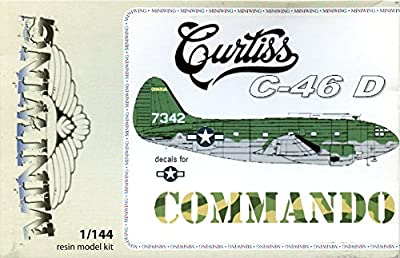 Miniwing 1:144 Curtiss C-46 D Resin Aircraft Model Kit #016