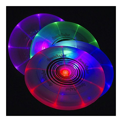 Flashflight LED Light-Up Flying Disc Disco Ultimate Glow Frisbee (Flashflight Led Frisbee)