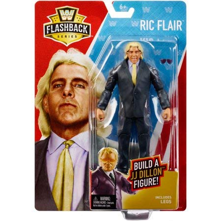 WWE Basic Flashback Series Exclusive WCW RIC Flair Action Figure (Build a Figure JJ Dillon) ...