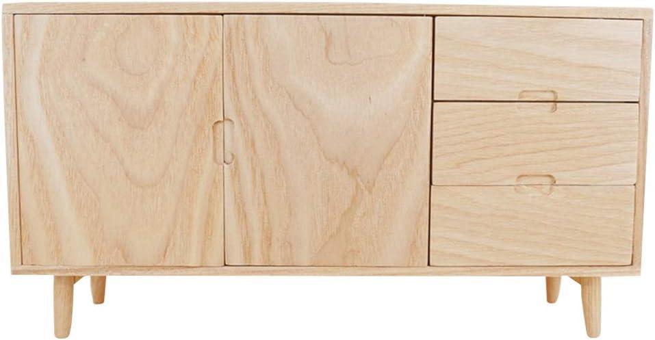 MAOSUO 1:6 Scale Mini Cabinet Cupboard Model Dollhouse Furniture Miniature Accessories with Fine Workmanship