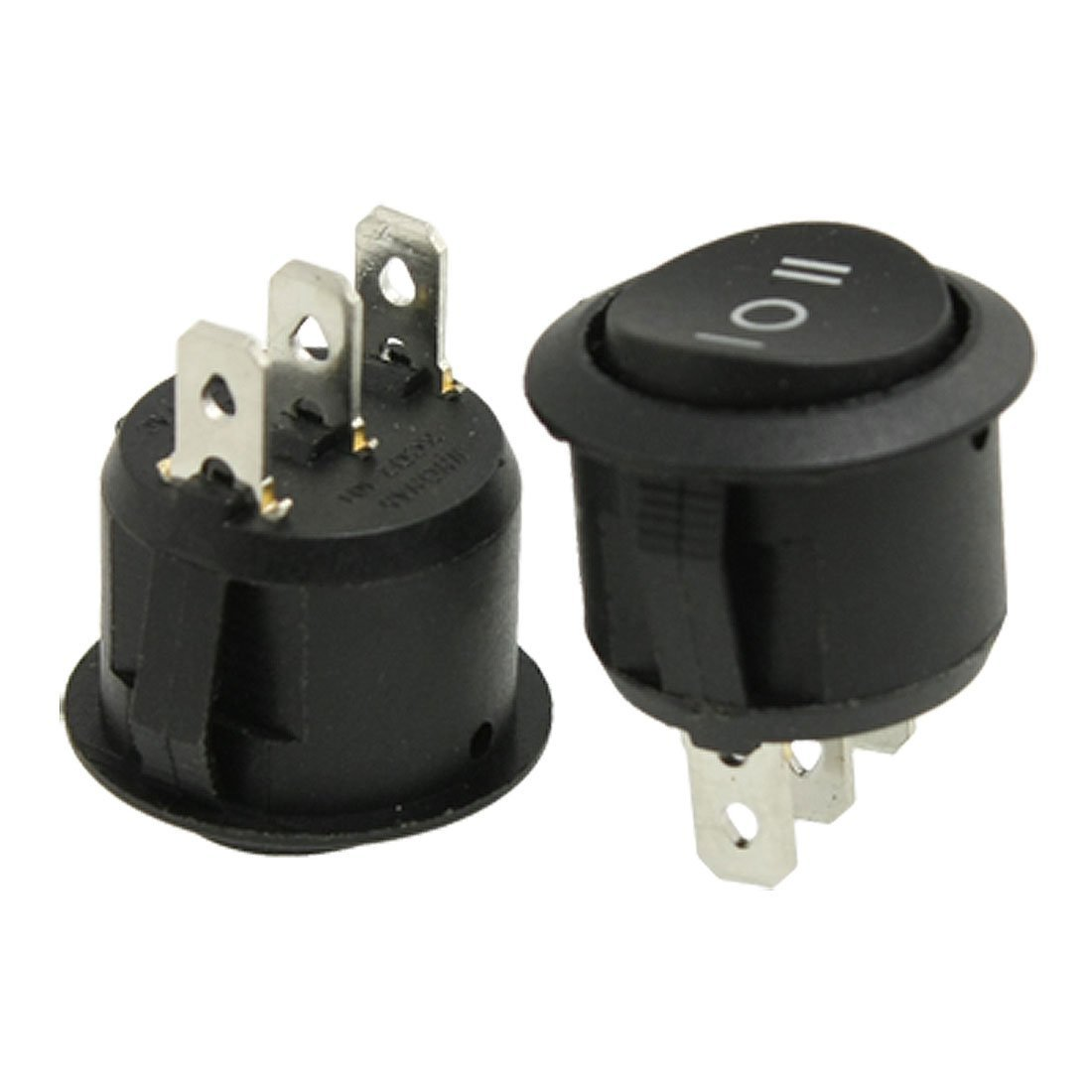 SODIAL(R) 2 xCA 6A / 250V 10A / 125V 3 broches SPDT ON / OFF / ON 3 positions Rond Bateau Interrupteur a bascule