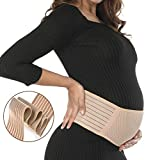 Maternity Supports Belt, Pregnancy Supports Belt Plus Size Belly Bands. Breathable Abdominal Binder, Back Support, One Size(fits Waists 32-48 inches), Beige