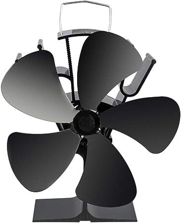 Angelliu Ecofan - Ventilador de Estufa con 5 Cuchillas de Ahorro ...