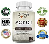 Amate Life 100% Pure MCT Oil Capsules 3000 mg - Metabolism & Ketone Level Booster - Energy Boosting Pill - Healthy Mental Focus Dietary Supplement – for Men & Women- Made in USA - 120 Softgels