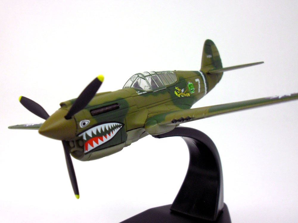 Curtiss P-40 Warhawk Flying Tigers 1/72 Scale Diecast Metal Model by Oxford (Image #2)
