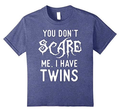 Kids Funny Parent of Twins Shirts Halloween Costume Joke Gifts. 8 Heather Blue (Twin Costumes For Teens)