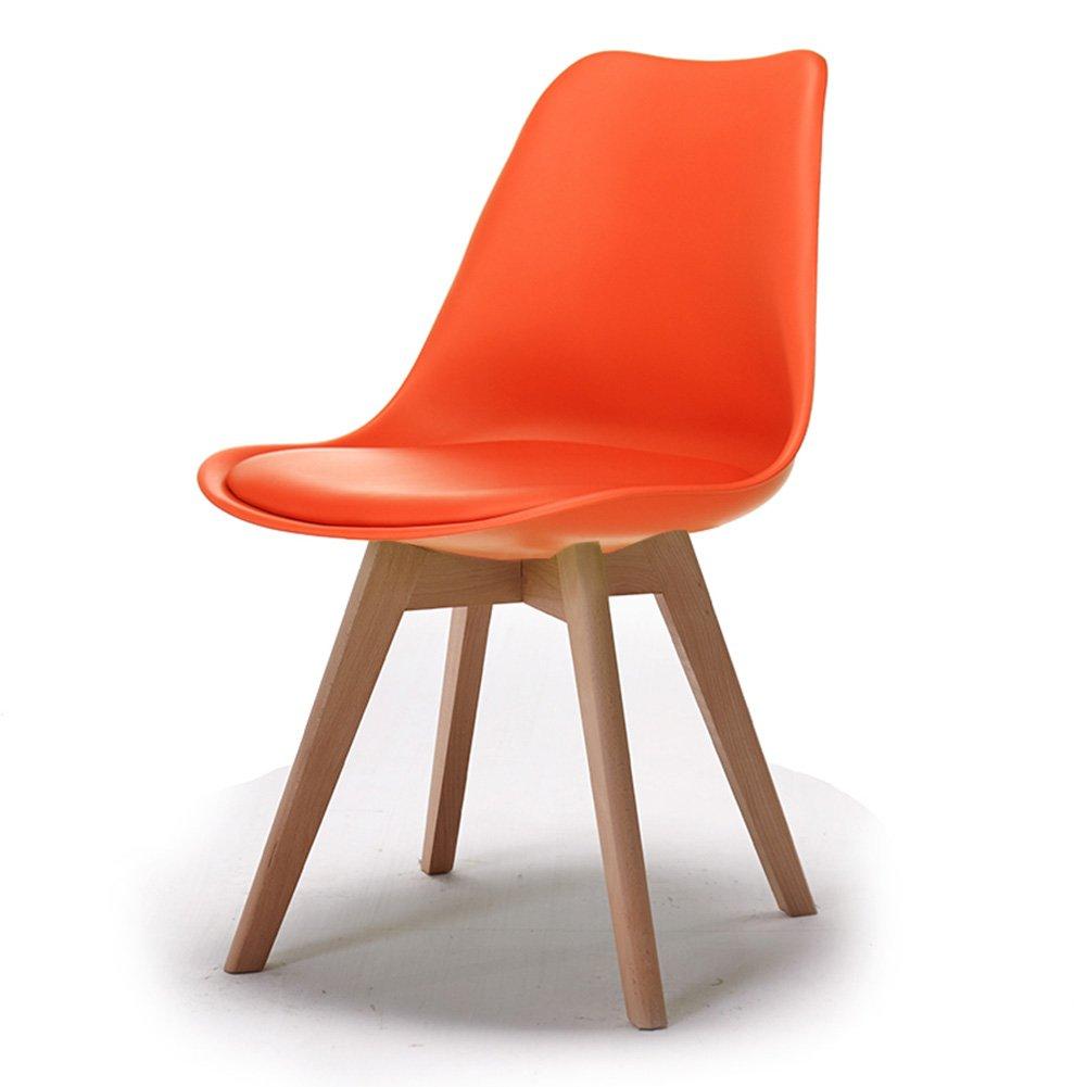 大人のダイニングチェアオフィス家庭用カフェビストロコマーシャルウッドの背もたれカジュアル近代的なシンプルチェア (色 : Orange, サイズ さいず : Set of 2) B07F2R35B6 Set of 2|Orange Orange Set of 2