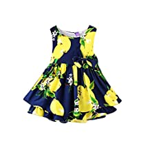 Norbi Baby Kids Girls Floral One-Piece Sleeveless Dress