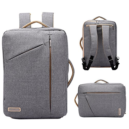 TUGUAN Briefcase Backpack, Anti-Theft Slim Thin Laptop Bag 17in Best Laptop Backpack for Women Grey ()