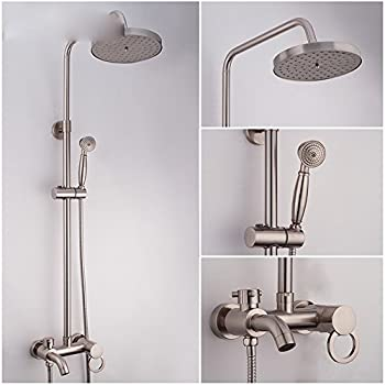 DHWM Brushed shower kit small stalls showers and shower