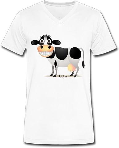Cow Shop223 Vaca shop223 vaca 100%? Algodón Cuello de pico ...