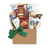 coffee and tea gift basket - California Delicious Give Thanks with Starbucks