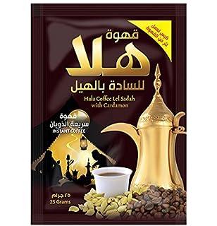 Café Arábica Instantáneo con Cardamomo de estilo árabe, Tostado Oscuro, 10 x 25 g