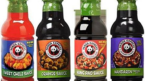 Panda Express Sauce Variety Bundle  18 75 Oz 20 75 Oz  Pack Of 4  Includes 1 Bottle Sweet Chile Sauce  Mandarin Teriyaki Sauce  Orange Sauce  Kung Pao Sauce
