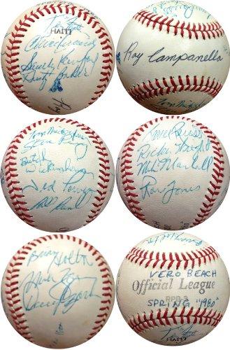 Dodgers Spring Training (1980 Dodgers Spring Training JSA Multi Signed Baseball Including Sandy Koufax-Official)
