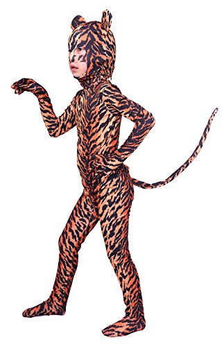 Tiger Kids Costumes (Sheface Kids Tiger Halloween Costumes (Large,)
