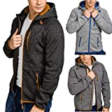 Hoodies for Men, Pervobs Men's Autumn Winter Long Sleeve Hoodies Pleats Pockets Sweatshirt Tracksuits