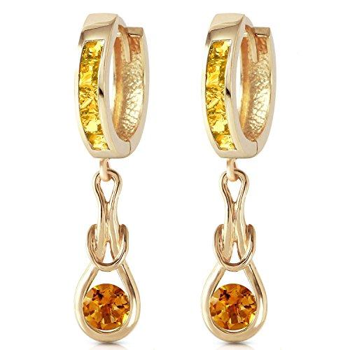 ALARRI 2 Carat 14K Solid Gold Love Knot Citrine Earrings by ALARRI (Image #1)