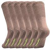 Men's Casual Crew Socks 6 Pairs Cotton Soft Comfort