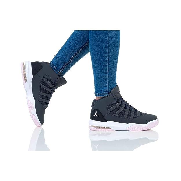 Nike AQ9249-060 - Zapatillas de Baloncesto de Cuero para niño Gris ...